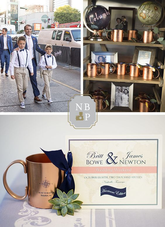 Southern Graces created custom wedding weekend booklets for the Newtons.
