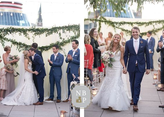 Mr. and Mrs. Newton walk up the aisle after exchanging vows | Southern Graces