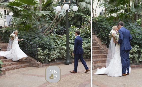 Britt and Jamie's first look at their wedding venue in Nashville, TN | Southern Graces