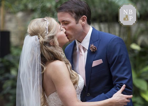 The couple share a kiss after exchanging vows | Southern Graces