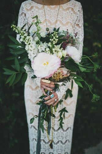 Boho Chic Bridal Bouquet